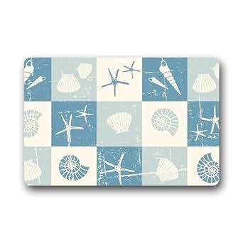 Decorative Doormats Starfish Series Door mats Custom Non Slip Indoor/Outdoor Multifuntional Doormat(23.6x15.7)