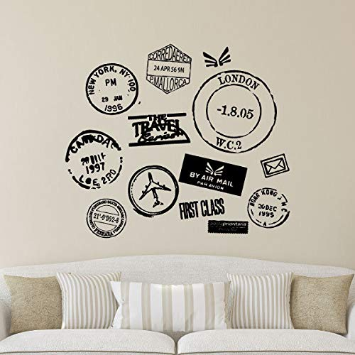 Wall Quotes Travel Series Postmarks Vinyl Wall Decal...