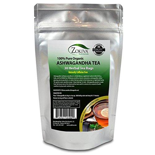 Ashwagandha Tea Organic (30 Bags) Premium Quality 100% Pure Root -Withania Somnifera