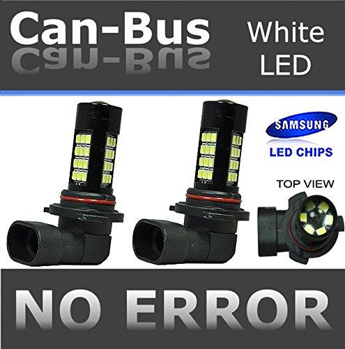 ICBEAMER 2 pcs H10 9140 9145 12V 42W Canbus 42 LED Fit Fog Light Bulbs Only Replace Halogen Lamps [Color: Super White]