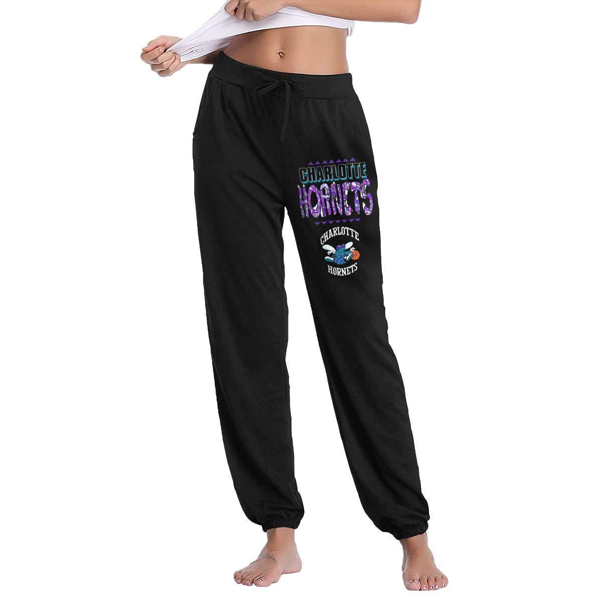 Black XXL GavDon Women's Men'sCharlotteHornets20logo Casual Sweatpants Yoga Jogger Lounge Sweat Pants with Pockets