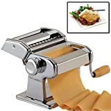 Top Home Solutions® 3 in 1 Heavy Duty Stainless Steel Professional Fresh Pasta Lasagne Spaghetti Tagliatelle Maker Machine Cutter
