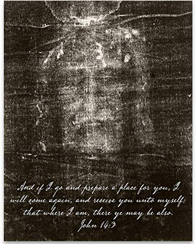Shroud of Turin - The Face of Jesus - 11x14 Unframed Art Print - Great Gift and Christian Religious Home Wall Art Decor Under $15
