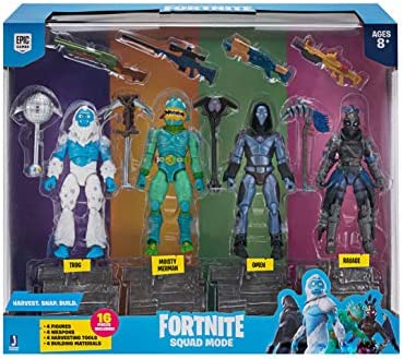 Toy Partner 2 Pack 4 FIGUAS FORTNITE Squad Mode Core, Serie 2, 10 ...