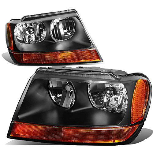 DNA MOTORING HL-OH-JGC99-BK-AM-T2 Headlight Assembly, Driver and Passenger Side