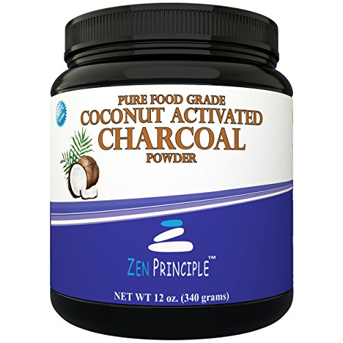 Price comparison product image LARGE 12 Oz. Coconut Activated Charcoal Powder. Whitens Teeth, Rejuvenates Skin and Hair, Detox and helps Digestion. Treats Accidental Poisoning, Bug Bites and Wounds. USA-Owned Producers, FREE scoop!