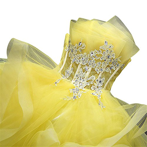 Gelb Empire Gelb Kleid Drasawee Kleid Drasawee Empire Damen Damen w88OnpUqv