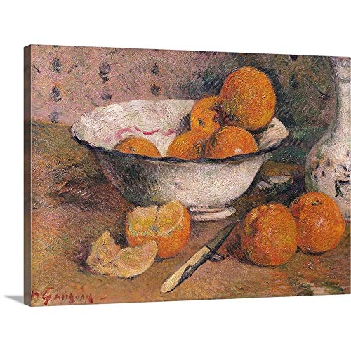 (GREATBIGCANVAS Gallery-Wrapped Canvas Entitled Still Life with Oranges, 1881 by Paul (1848-1903) Gauguin 30