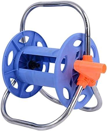 WAJIEFD Soporte Portamanguera Portátil,Enrollador De Manguera Sin Manguera Bobinado Fácil for Facilitar El Riego del Jardín (Color : Blue, Size : 30X30X40CM): Amazon.es: Hogar