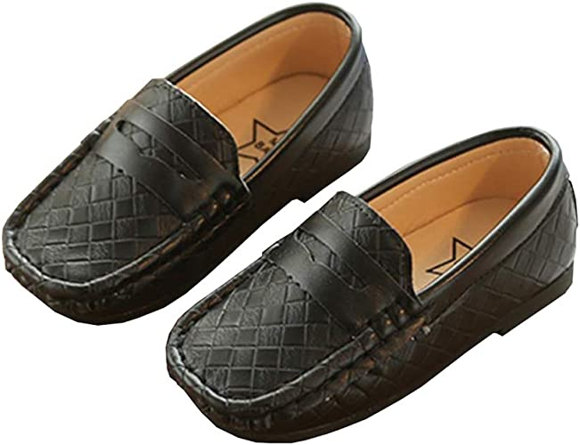 XinYiQu Boys PU Leather Loafers Slip On