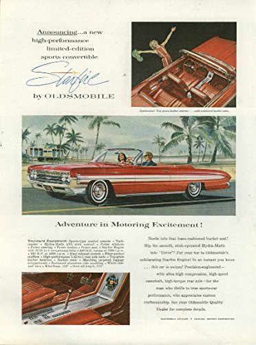 High-performance limited-edition Oldsmobile Starfire Convertible ad 1961