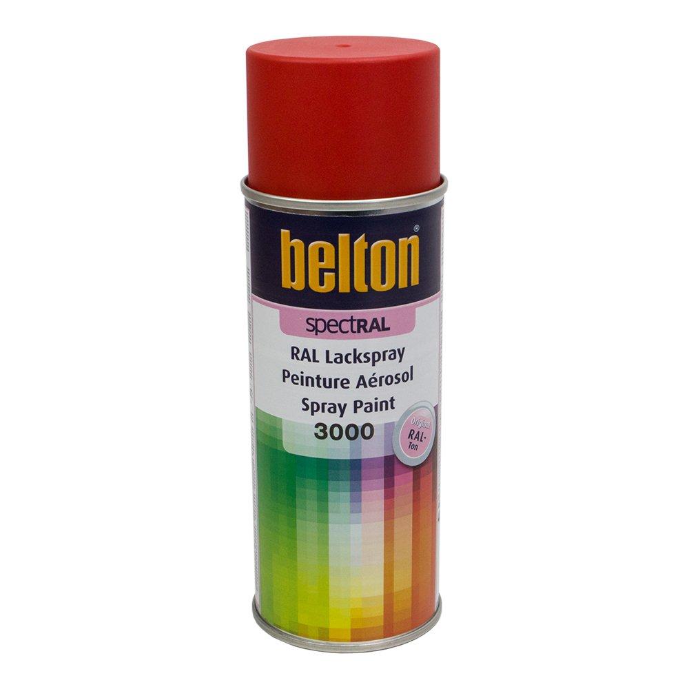 RAL 3000 ROUGE FEU Mat (BELTON) (Bombe peinture 400 ml) - bombe aerosol reparation peinture carrosserie voiture teintes standrard et RAL (reference couleur constructeur 150 ou 400 ml)