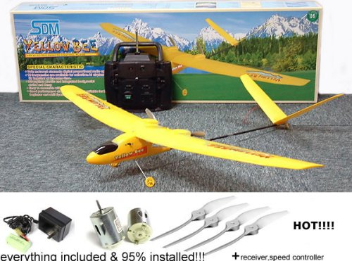 Rc Park Flyer Plane (REMOTE CONTROL rc Yellow Bee Remote Radio Control Mini RC Plane Airplane)