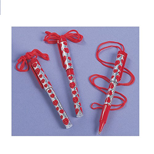 Heart Valentine Pens Rope Necklaces