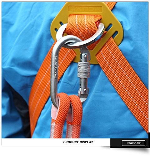 Safety Lanyard Professional Protective Safety Belt Nylon Sling Belt Climbing Harness Belt Lanyard With Hook High Strength Wearable Anti Fall Off(Type A,5Meter) by DoMyfit (Image #8)