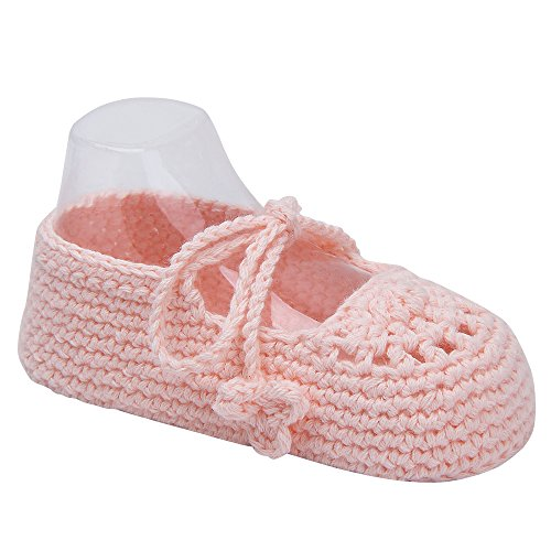 Pictures of Kuner Handmade Crochet Newborn Baby Shoes Mary 6