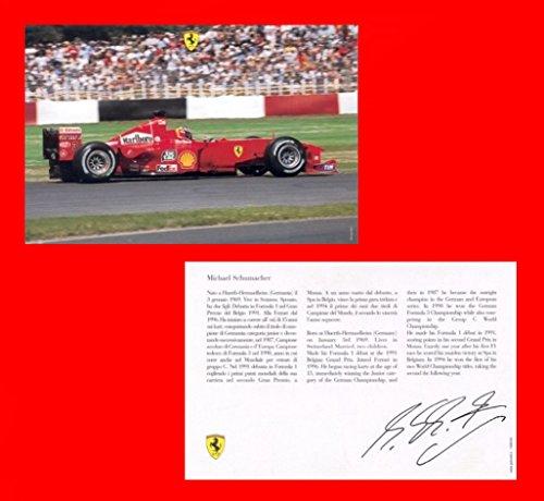2000 Ferrari - 2000 FERRARI FORMULA 1 & MICHAEL SCHUMACHER VINTAGE OFFICIAL FACTORY COLOR CARD - 1586/00 ENGLISH/ITALIAN - WONDERFUL ORIGINAL CARD !!