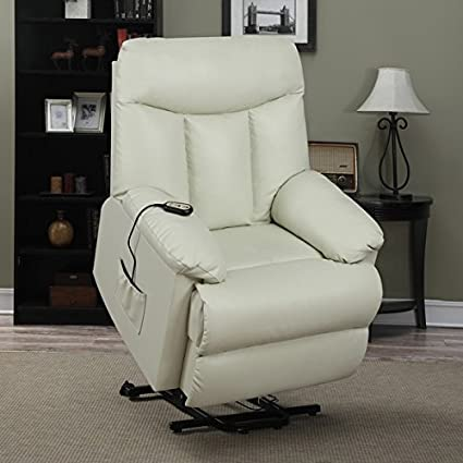 Completely new Amazon.com: ProLounger Lya Cream Renu Leather Power Recline and  PD25