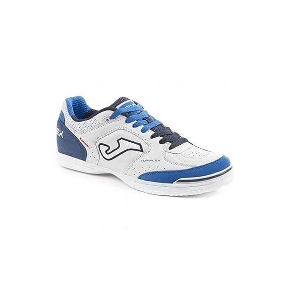 Joma Top Flex, Chaussures de Futsal Mixte Adulte, Blanc (White), 39 EU