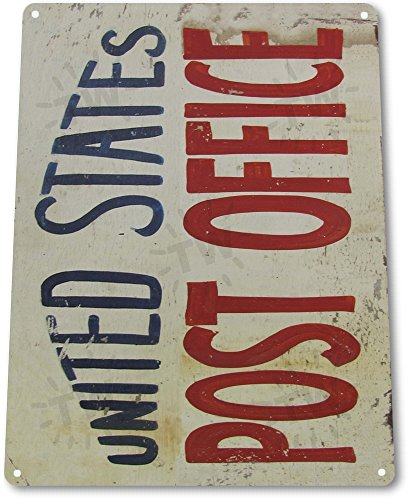 Tin Sign  United States Post Office   Metal Decor Wall Art Shop Store A184