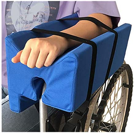 Wheelchair Armrest Pads Arm Trough for Wheelchair Arm Pads Lateral Support Armrests for Wheelchair Parts Cushions Contoured Arm Support Elevator Rest Tray (Blue)