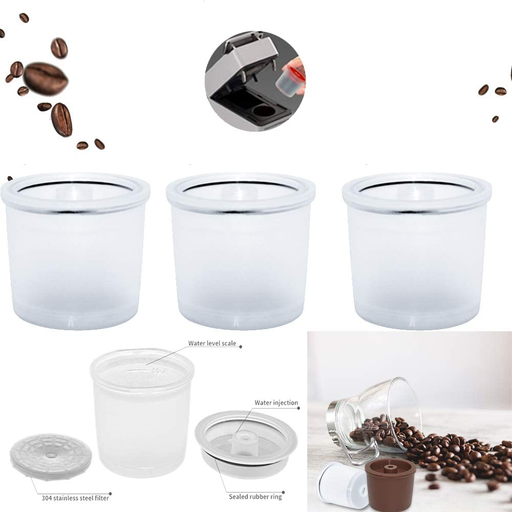 1 Spoon Capsule + Coffee Tamper 1 Brush i Cafilas Stainless Steel Reffilable Refuable Coffee Capsules Pods Filter for illy iperEspresso X9 X8 X7.1 Y5 Y3 Y1.1 Coffee Machine