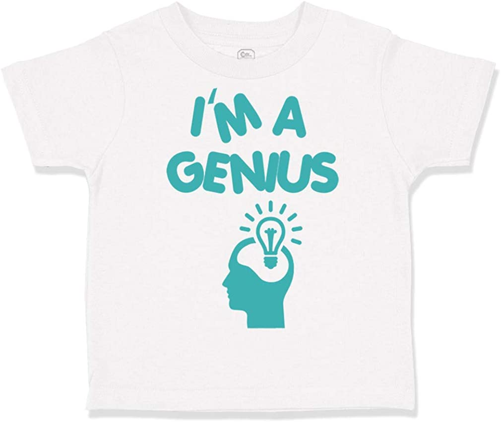 Custom Toddler T-Shirt Im A Genius Egg Funny Nerd Geek Boy /& Girl Clothes