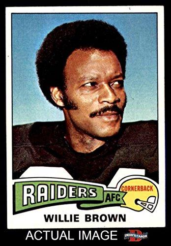 1975 Topps # 95 Willie Brown Oakland Raiders (Football Card) Dean's Cards 5 - EX Raiders