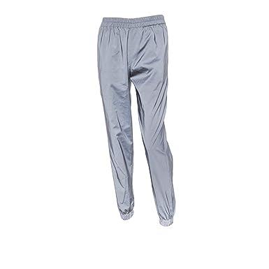 5f3f40129a0e Amazon.com  LZLRUN Reflective Pants Women 2018 Brand Hip Hop Dance  Fluorescent Trousers Casual Harajuku Night Sporting Jogger Pants Gray   Clothing
