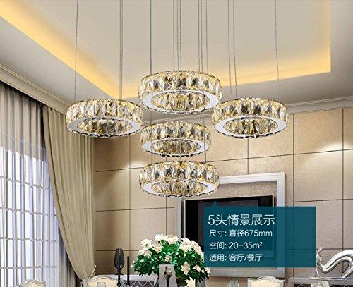 Plafoniere Cristallo E Acciaio : Bfdgn moderno e minimalista led lampadari di cristallo soffitto