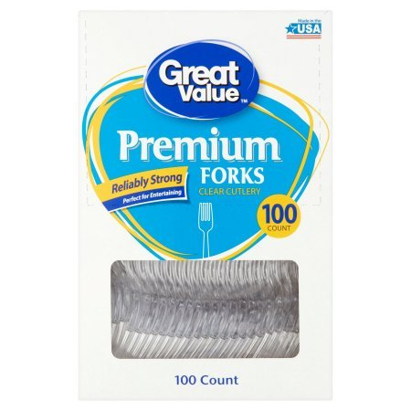 Great Value Premium Forks, 100 ct