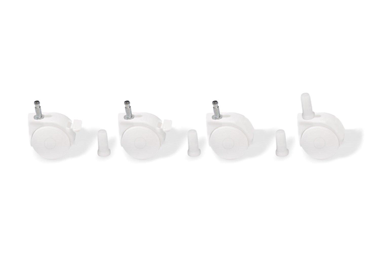 Pinolino 560011 - Rollensatz mit Hülsen, weiß weiß