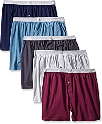 Fruit of the Loom 5-Pack Assorted Knit Boxers Size Extra Large