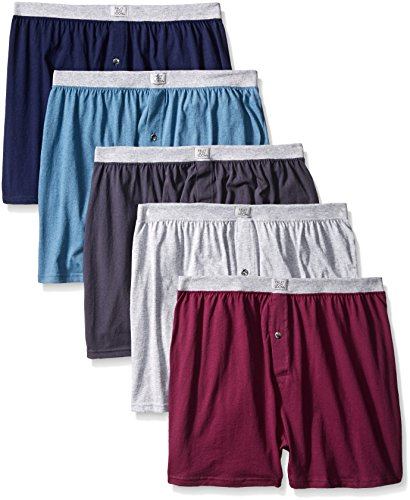 Fruit of the Loom Men's 5-Pack Soft Stretch Knit Boxer – Colors May Vary
