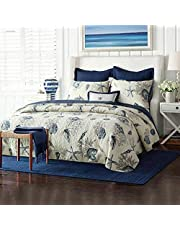 Quilt Bedding Set, Ocean Theme – 3 Piece Bedding Quilt/Reversible Coverlets – 100% Cotton Filling Bed Quilts Quilted(Ocean-yt-c144)