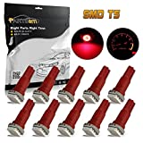 mitsubishi 3000gt speedometer - Partsam 10x Red T5 1 SMD 5050 Dashboard Wedge Car LED Light Bulb Lamp 37 73 74 79 For 1993-1997 Honda Civic del Sol