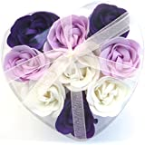 Rose Bath Bomb, Nine Colorful Charing Rose Flowers in a heart gift box. 20