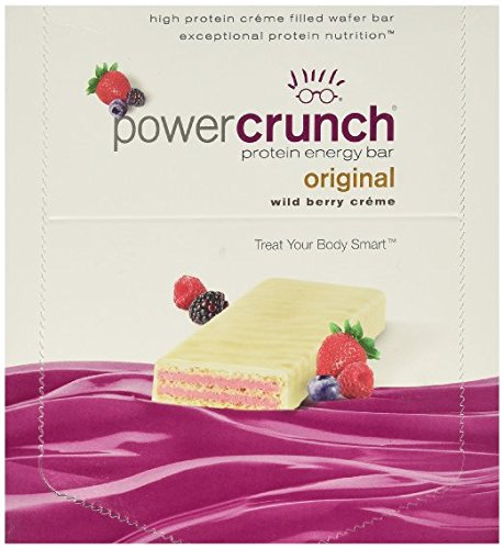 Bionutritional Research Group Power Crunch Protein Bar, Wild Berry Creme, 12 Count Power Crunch Berry Creme