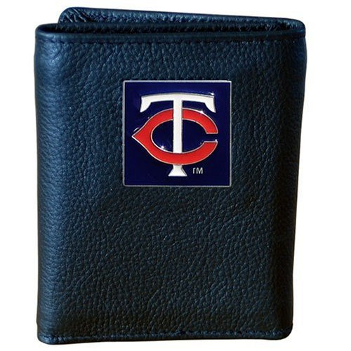 (MLB Minnesota Twins Genuine Leather Tri-fold Wallet)