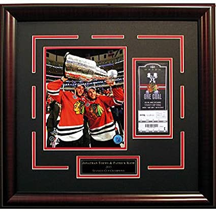 Image Unavailable. Image not available for. Color  Jonathan Toews   Patrick  Kane Framed Blackhawks 20x22 Stanley Cup ... 4c3fbbf06
