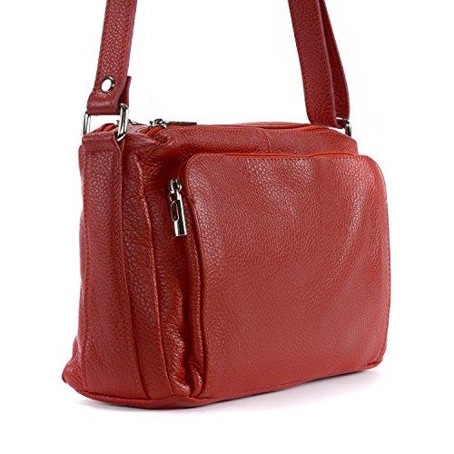 main OH Sac Modèle Clair cuir Manatan en femme MY BAG à bandoulière Rouge wwqIAf