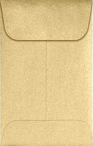 #1 Coin Envelopes (2 1/4 x 3 1/2) – Blonde Metallic (1000 Qty.) | Perfect for the HOLIDAYS, Weddings, Parties & Place Cards | Fits Small Parts, Stamps, Jewelry, Seeds | 1COBLON-1M