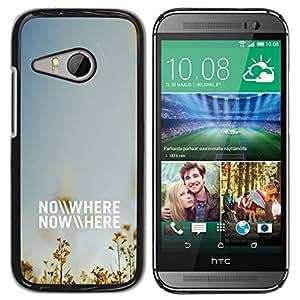Caucho caso de Shell duro de la cubierta de accesorios de protección BY RAYDREAMMM - HTC ONE MINI 2 / M8 MINI - NO DONDE EN NINGUNA PARTE