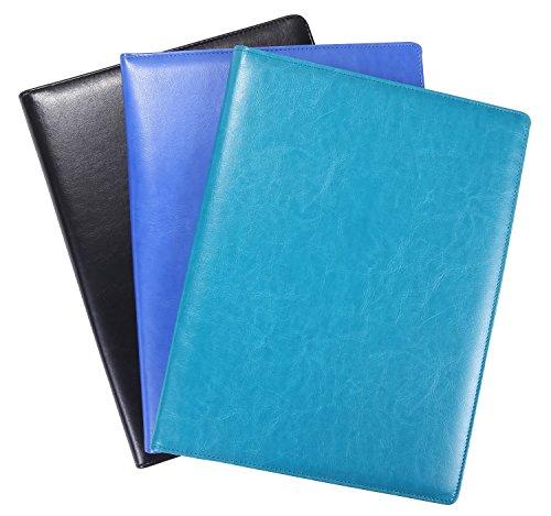 Portfolio Padfolio Resume Folder with Pocket, Premium Faux Leather ...