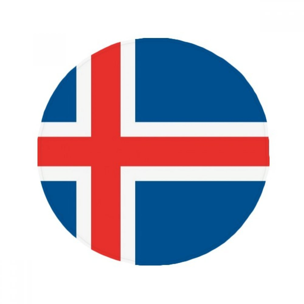 60X60cm DIYthinker Iceland National Flag Europe Country Anti-Slip Floor Pet Mat Round Bathroom Living Room Kitchen Door 60 50Cm Gift