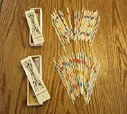 2 Sets of New Wood Pick UP Sticks with Wooden Box Pick-UP Mikado SPIEL Game | by Choochootrainsk