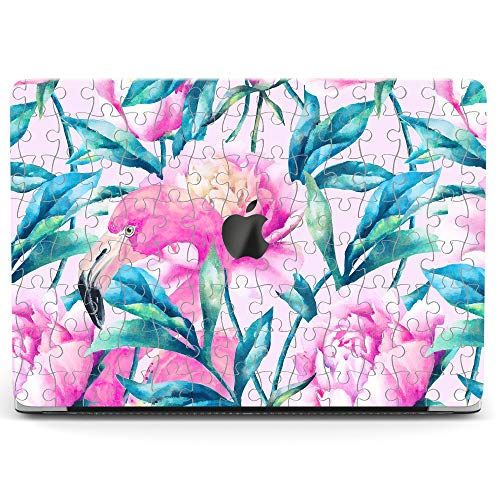 Wonder Wild Case for MacBook Air 13 inch Pro 15 2019 2018 Retina 12 11 Apple Hard Mac Protective Cover Touch Bar 2017 2016 2015 Plastic Laptop Print Puzzle Flamingo -