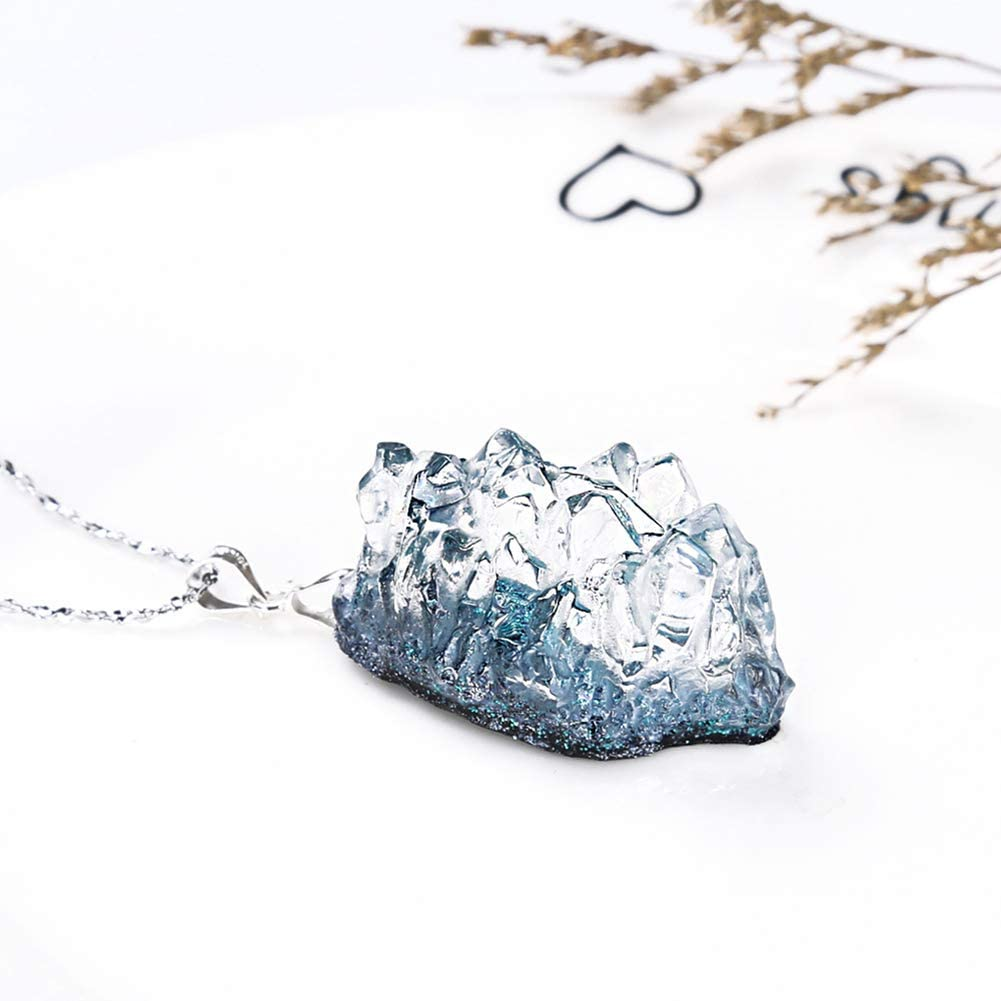 Juanya Epoxy Resin Molds Island Resin Molds Necklace Ocean Wave//Crystal//Oak Fruit Silicone Molds for Pendant Resin Crafts DIY