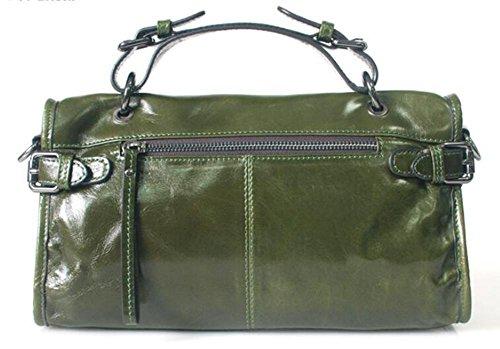 Cera Móviles Bolso Aceite Paquetes Mensajero Cuero Deep De bolsos La Chaoyang Green Mujer AwqzHtx