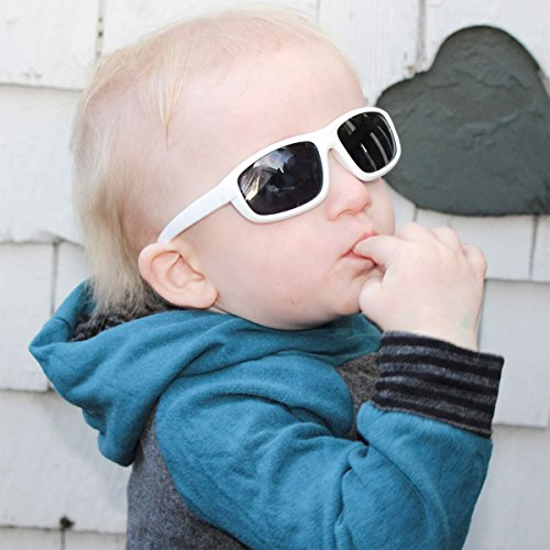 Baby Toddler Polarized Sunglasses With Strap 100% UV Block (M: 2-6Y, Blue) by JAN & JUL (Image #6)